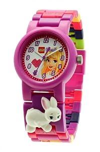LEGO 9005190 - Reloj analógico de cuarzo para niña con correa de plástico, color morado