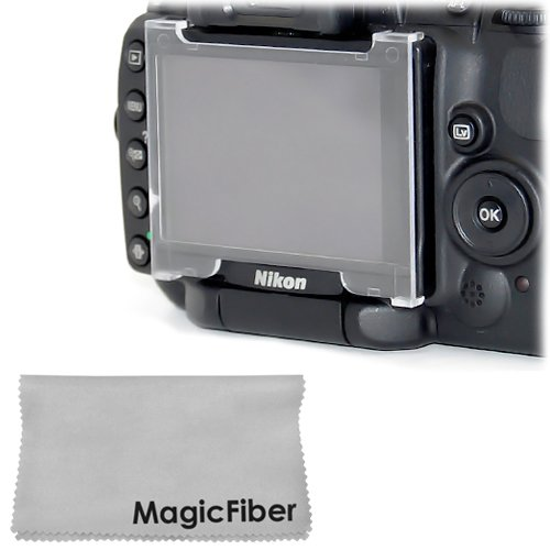 Hard Lcd Screen Protector For Nikon D5000 Dslr Camera + Premium Magicfiber Microfiber Cleaning Cloth