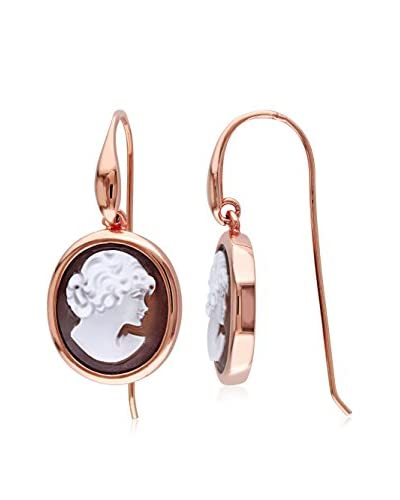 Sofia B. Rose Gold-Tone Classic Cameo Drop Earrings