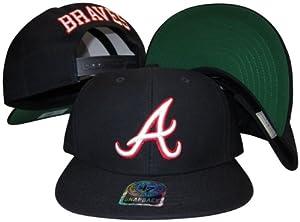 Atlanta Braves Navy Plastic Snapback Adjustable Plastic Snap Back Hat  Cap by Banner