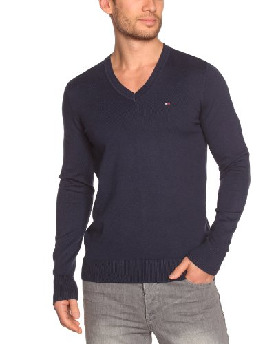 Tommy Hilfiger Timber Vn Sweater Longsleeve KIR409 Men's Jumper Peacoat Small