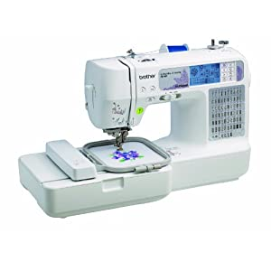 Brother SE400 Combination Computerized Sewing and 4x4 Embroidery Machine With 67 Built-in Stitches, 70 Built-in Designs, 5 Lettering Fonts
