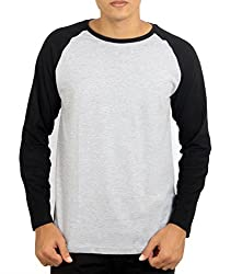 Younsters Choice Men's Cotton T-Shirt (YC-5806_Grey Black_Large)