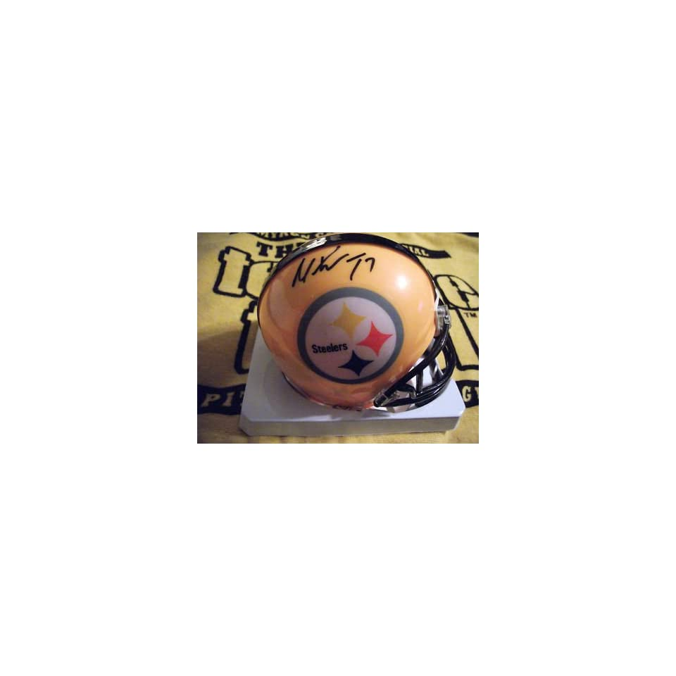 Mike Wallace signed Pittsburgh Steelers mini helmet   Autographed MLB Helmets and Hats
