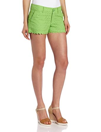 Lilly Pulitzer Women's Walsh Short, New Green Sweet Floral Eyelet, 10