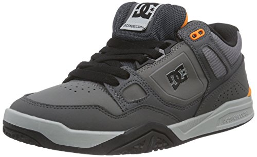 DC Shoes STAG 2 M SHOE XSSN, Low-Top Sneaker uomo, Grigio (Grau (Grey/Grey/Orange XSSN)), 41