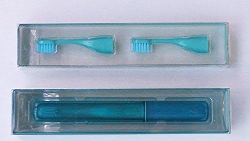 遊歩人 携帯 音波振動 歯ブラシ mix + 替えブラシ セット ≪ mint x soda ≫ MIXーETー05SーBL