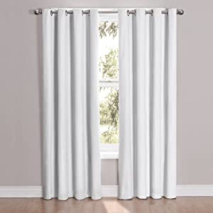 Eclipse Cassidy Blackout Grommet Window Curtain Panel 95 Inch Light Gray Home