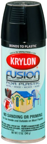 krylon k02321000 fusion for plastic aerosol spray paint 12 ounce. Black Bedroom Furniture Sets. Home Design Ideas