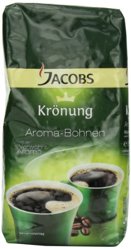 Jacobs Kroenung Aroma-Bohnen (Kroenung Whole Bean Coffee), 17.6-Ounce Vacuum Packs (Pack of 2) (Jacobs Coffee Whole Bean compare prices)