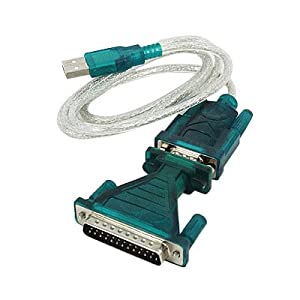 9-Pin DB-9 Serial USB Cable Adapter RS-232 RS232 W/ Driver