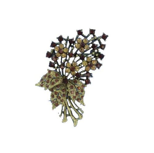 Fashion Trendy Brooch Smoke Topaz #015765