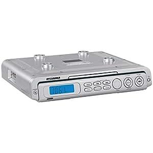 Sylvania Under Counter Kitchen CD Clock Radio (Discontinued by Manufacturer)