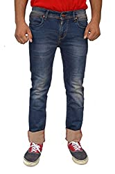 Evanzo Men's Slim Jeans (FH3CA782CA1_Blue_30W x 32L)