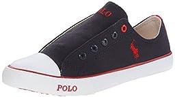 Polo Ralph Lauren Kids Carson Laceless Fashion Sneaker (Infant/Toddler/Little Kid), Navy Canvas, 2 M US Infant