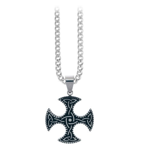 Inox Jewelry Pendants 316L Stainless Steel, PVD Black Celtic (Pendant Only)