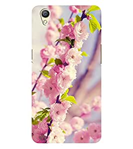 Chiraiyaa Designer Printed Premium Back Cover Case for OPPO A37 (flower pink winter) (Multicolor)