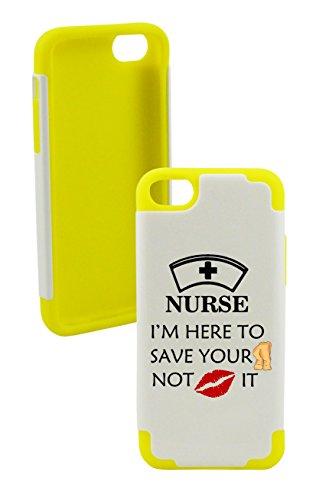 Phonetatoos (Tm) For Iphone 5C Nurse Plastic & Silicone Case- Lifetime Warranty (Yellow)