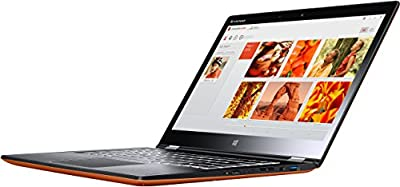 Lenovo Yoga 3-14 35,6 cm (14 Zoll FHD IPS) Convertible Ultrabook (Intel Core i5-5200U, 2,7GHz, 4GB RAM, 128GB SSD, Intel HD 5500 Graphics, Touchscreen, Win 8.1) clementine orange