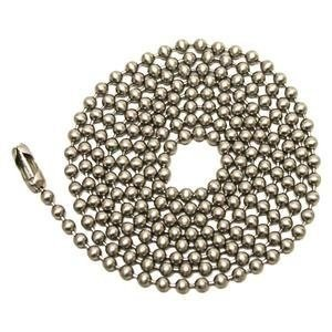 Westinghouse Lighting Corp 3-Feet Beaded Chain, Nickel - Pack 2