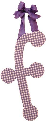 "My Baby Sam 9"" Lavender Gingham Hanging Letter, F - 1"