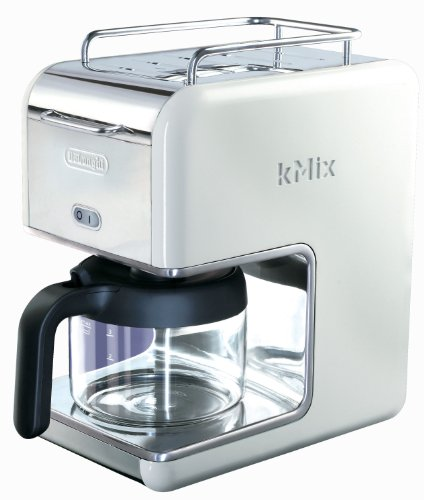DeLonghi Kmix 5-Cup Drip Coffee Maker, White