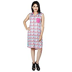 LALANA Multicolor Abstract Print Rayon Dress