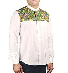 Riverbero Men's Casual Shirt (SN_DFS_204_White_38)