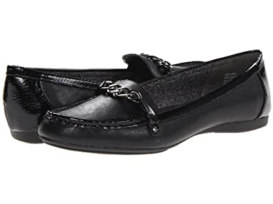 Mootsies Tootsies Sabina Womens Slip On Loafers Shoes Black/Black Sy 7