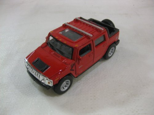 2005 Hummer H2 SUT In Red Diecast 1:40 Scale By Kinsmart