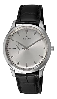 Zenith Men's 03.2010.681/01.c493 Elite Ultra Thin Silver Sunray Dial Watch