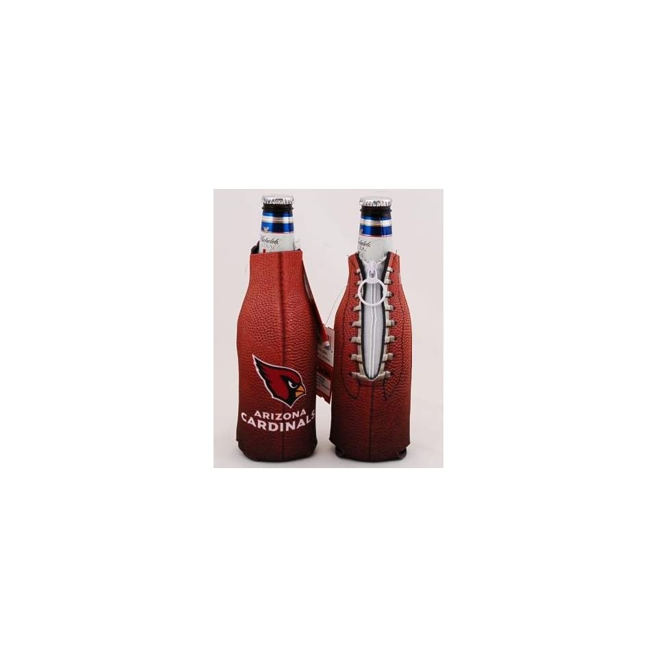 Set of (2) NFL Arizona Cardinals Football Bottle Coolie Koozies