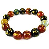 Eshoppee Om Mani Padme Hum Stone Bracelet For Health, Wealth And Peace Of Mind - B01GCC1ZGW