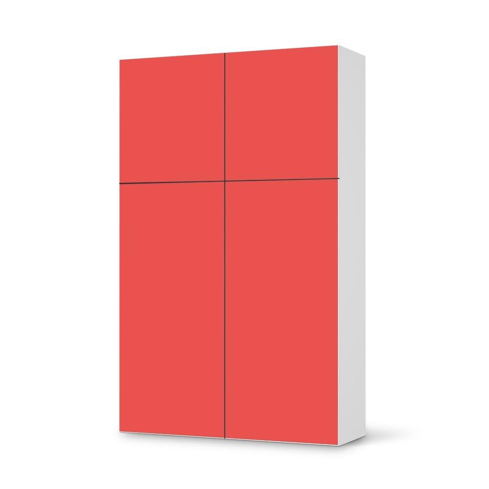Folie IKEA Besta Schrank Hochkant 4 Türen (2+2) / Design Aufkleber Rot 3 / Dekorationselement jetzt kaufen