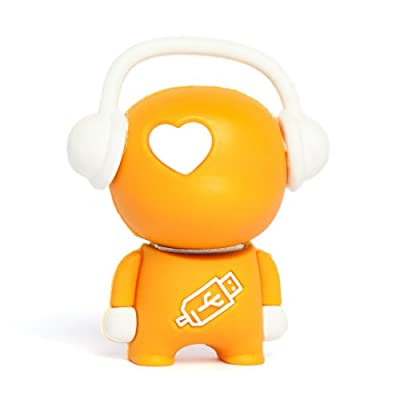 8GB Orange 'Walker' Novelty USB Flash Drive/Memory Stick/Pen/Gift/Present from Memory Mates
