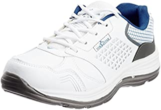 Vokstar Men's White and Grey Running Shoes - 8 UK (V231)