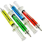 Lot Of 12 Assorted Color Syringe Shot Design Pens