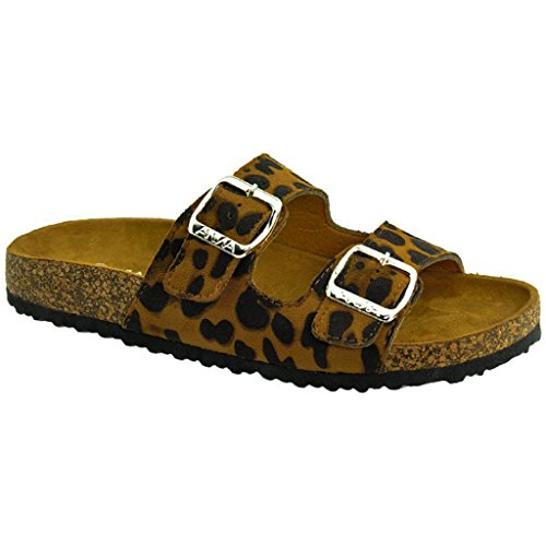 Women's Casual Buckle Straps Flip Flop Footbed Sandals (Leopard-B) 05.5 US (Mudd Shoes compare prices)