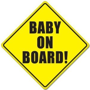 "BABY ON BOARD baby safety sign car sticker 5"" x 5"" - 1"
