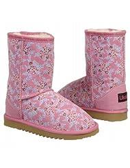 Ukala Kids' Fleur Pink Flower Low Boot