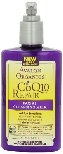 Avalon Organics Coq10 Repair Facial Cleansing Milk, 8.5 Ounce (Pack Of 2)