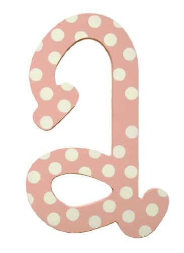My Baby Sam Polka Dot Letter a, Pink/White