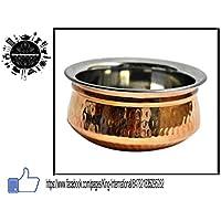 King International Traditional Designer Doubled Metal Walled Handcrafted Copper Serving Pot Set Of 2 Pcs (Large...