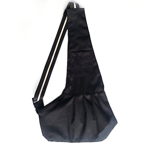 Foryee Oxford Cloth Sling Pet Dog Cat Carrier Pet Totes Single Shoulder Bag – Black,Large
