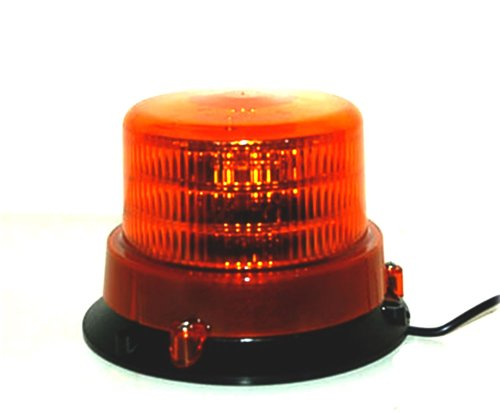"6"" Inch Amber Led Beacon Strobe Rotating Spot Light Comes With Free Cigarette Plug High Quality"