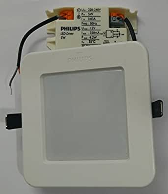 Buy Philips Astraslim 5 Watts Square Led Panel Light Cool