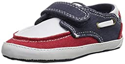 Tommy Hilfiger Kids Little Corey Infant Shoe (Infant/Toddler), Red/White/Blue, 3 M US Infant