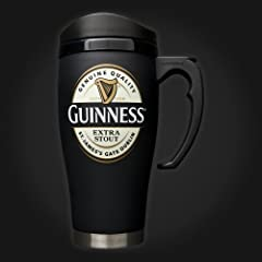 Large Guinness Label Travel Mug