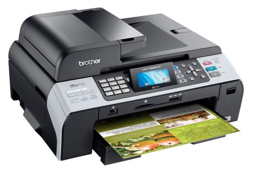 Brother MFC-5890CN Professional-Series Color Inkjet All-in-One with Networking and Large-Size Printing