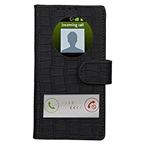 Dsas Artificial Leather Flip cover with screen Display Cut Outs designed for Samsung Galaxy Note 3